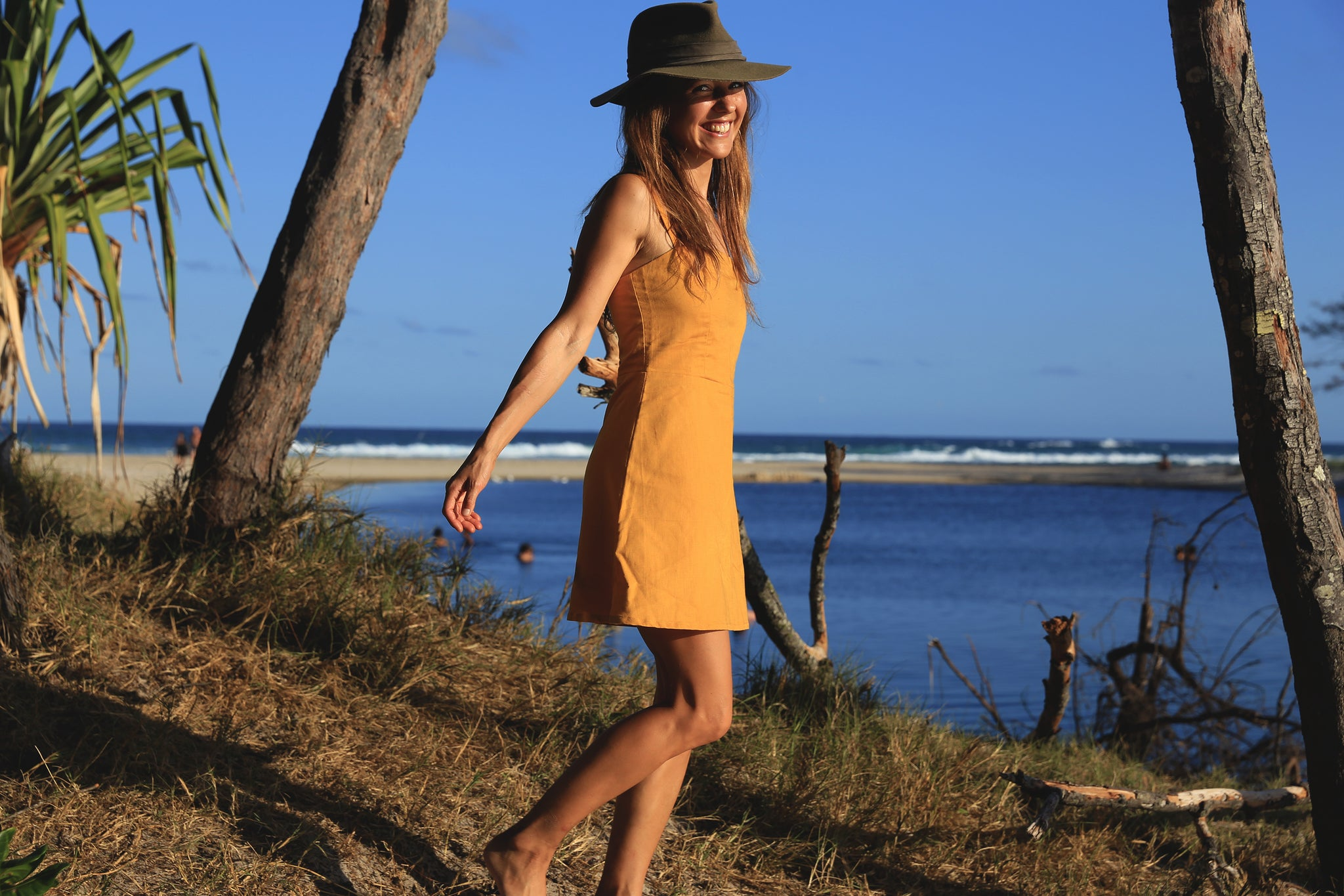 Catherine linen Sunflower dress