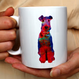 'Colour Splash' Airedale Terrier Mug