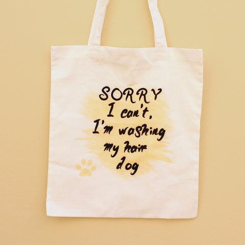 'I'm Washing My Dog' Tote Bag