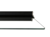 AURO Illuminated Floating Glass Shelf - 1000x200mm - Black Frame