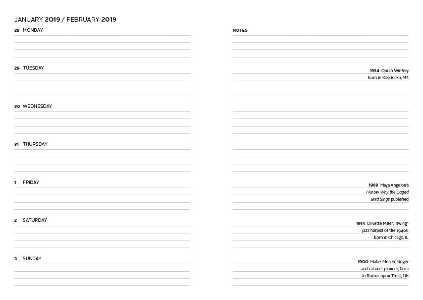 image about Dailyplanner called Traditional Black Glamour Every day Planner