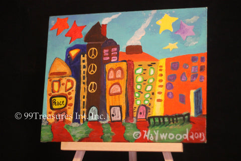 Abstract Cityscape by Haywood - Custom order