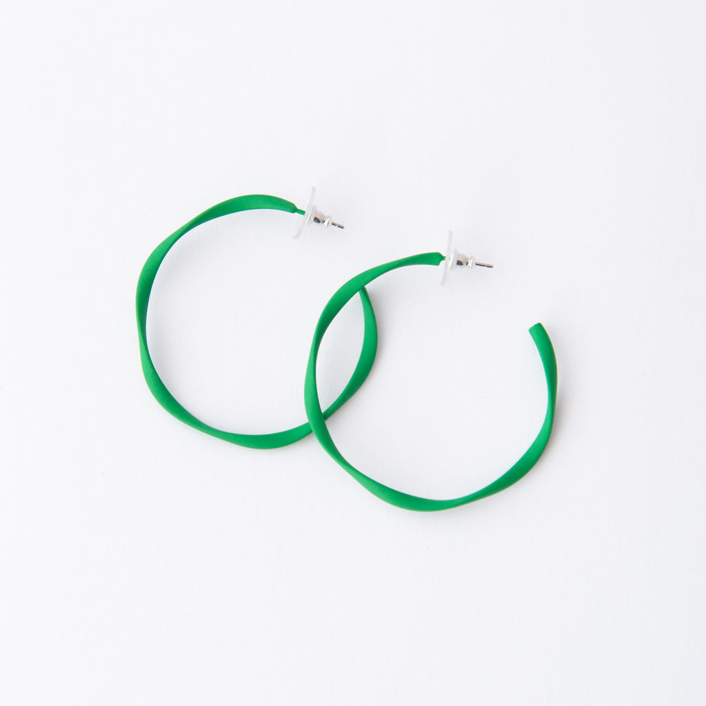 Everyday Twisted Full Hoop Earrings (14 Colours Avail)