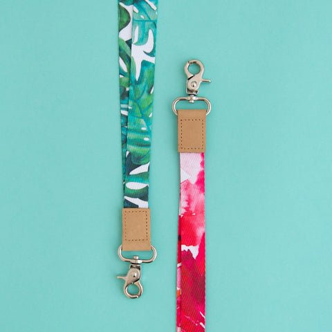 RO2086LYC-MONSTERA-GREEN-BEACH-ROSE-LANYARD-WATERCOLOUR-TOGETHER.jpg