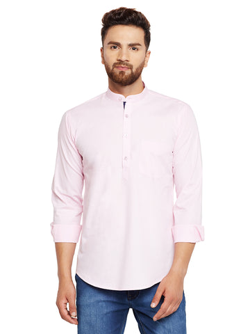 Hancock Pink Solid Slim Fit Pure Cotton Formal Shirt