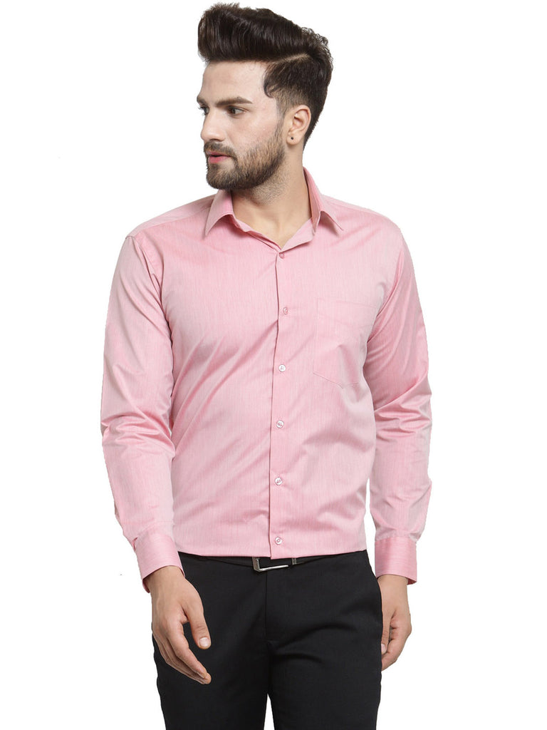 Hancock Coral Solid Slim Fit Pure Cotton Formal Shirt