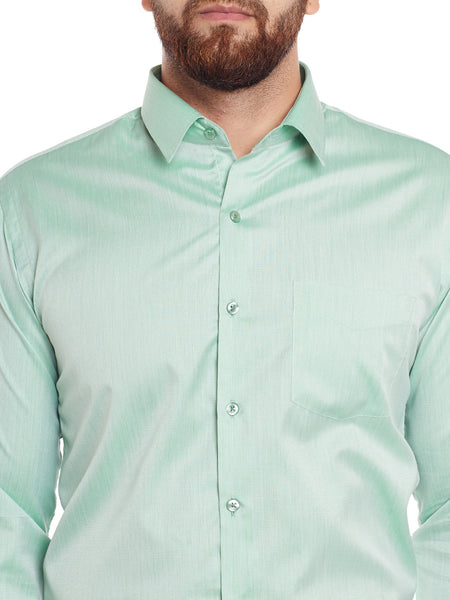 Hancock Green Solid Slim Fit Formal Shirt