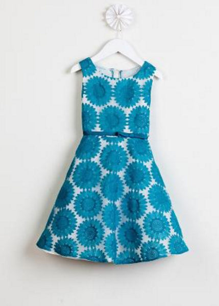 Teal Knee Length Party Dress