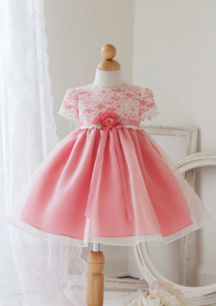Coral Infant Party Dress