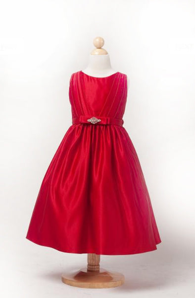 Girls Party Wear Dress In Red Colour