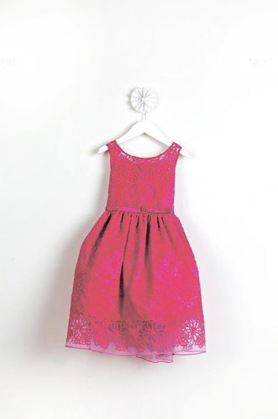 Girls Party Wear Dress In Fushcia Colour