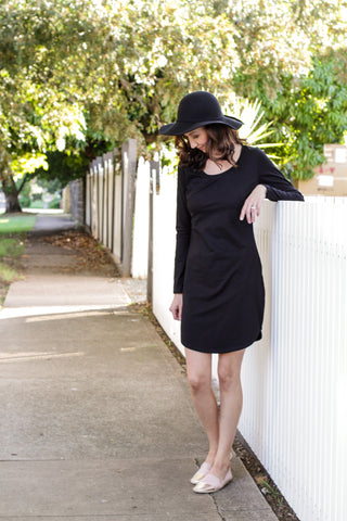 BRONTE T-SHIRT DRESS 2.0 BLACK
