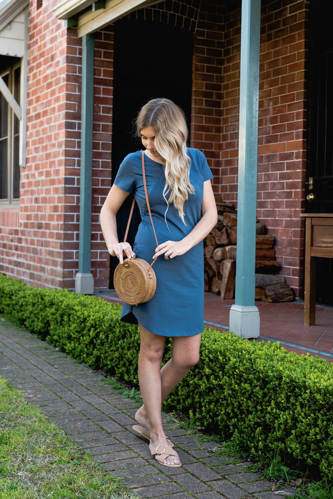 BRONTE T-SHIRT DRESS BLUE