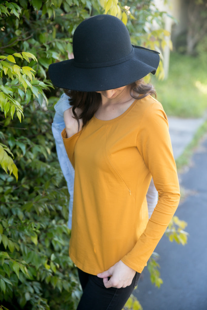 REMY TOP MUSTARD - SIZE 8 ONLY
