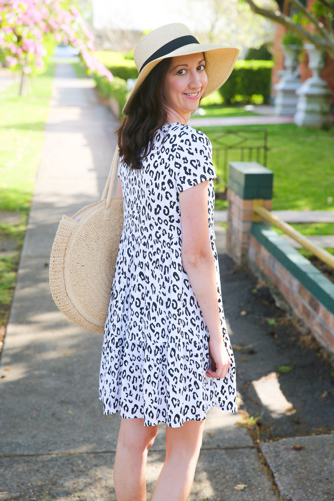 Leopard print nursing dress