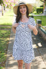 Dress with lift up breastfeeding access