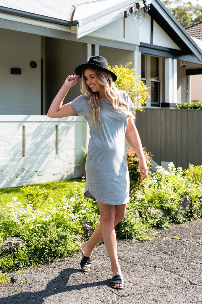 BRONTE T-SHIRT DRESS GREY