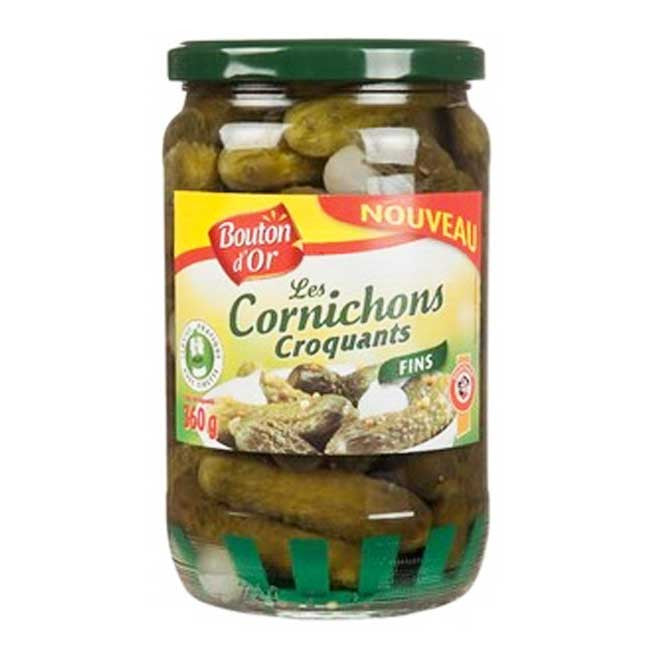 Cornichons fins/  Thin & Crackling Pickles Bouton D'Or - TheLittleMart.com