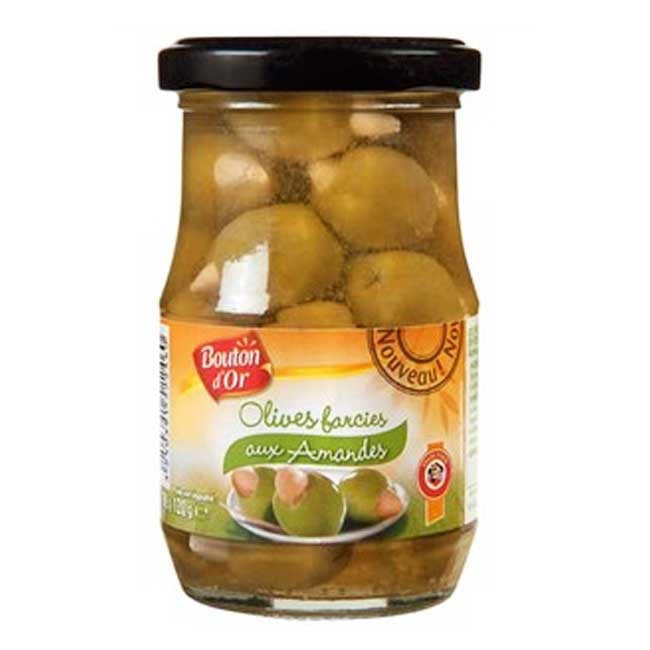 Bouton D'Or Green Olives Stuffed With Almonds - TheLittleMart.com