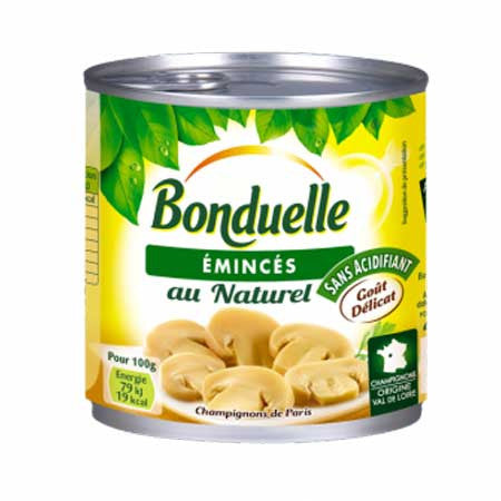 Bonduelle sliced mushrooms from Paris