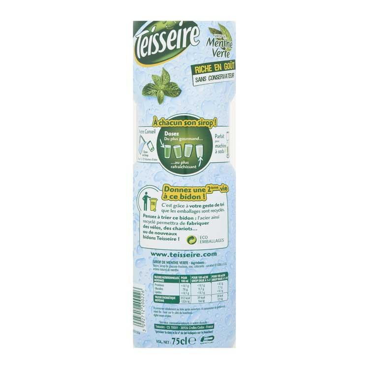 TEISSEIRE Menthe Verte / Green Fresh Mint Cordial