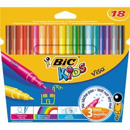 BIC 18 medium pointed felts/ Crayons feutre
