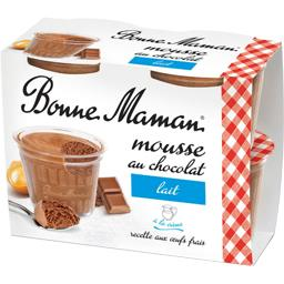 BONNE MAMAN Mousse chocolat lait /Milk chocolate mousse FROZEN