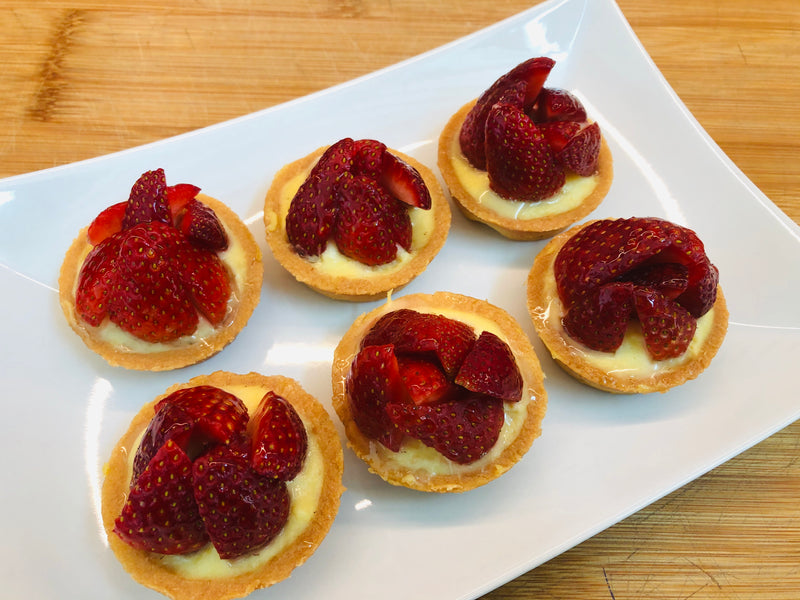 Mini Strawberries Tartlet  -Price for 6