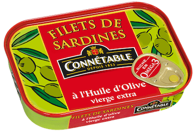 Filets de Sardines à l'huile d'olive vierge extra / Sardines fillets in extra virgin olive oil CONNETABLE 100g - TheLittleMart.com