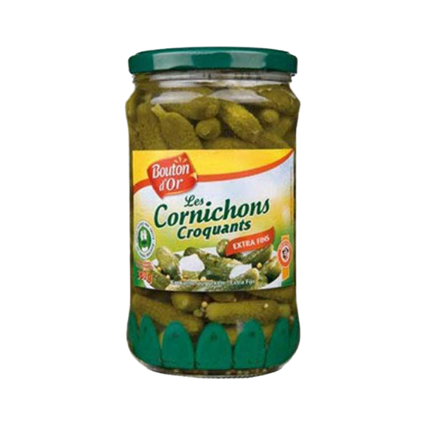 Cornichons extra -fins / Extra Thin & Crackling Pickles Bouton D'Or - TheLittleMart