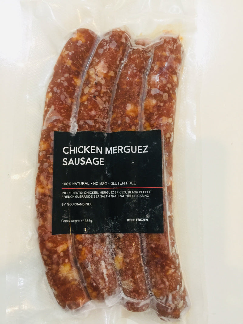 Chicken merguez sausage FROZEN by Gourmandines - TheLittleMart.com