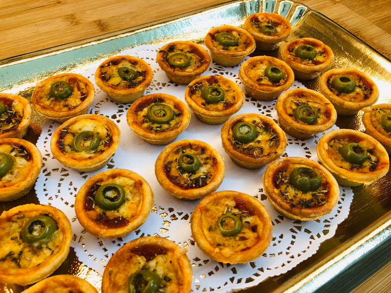 24 Finger food / Mini Pizza Tartlet (vegetarian) - TheLittleMart.com