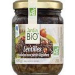 JARDIN BIO Green lentils with cooked vegetables