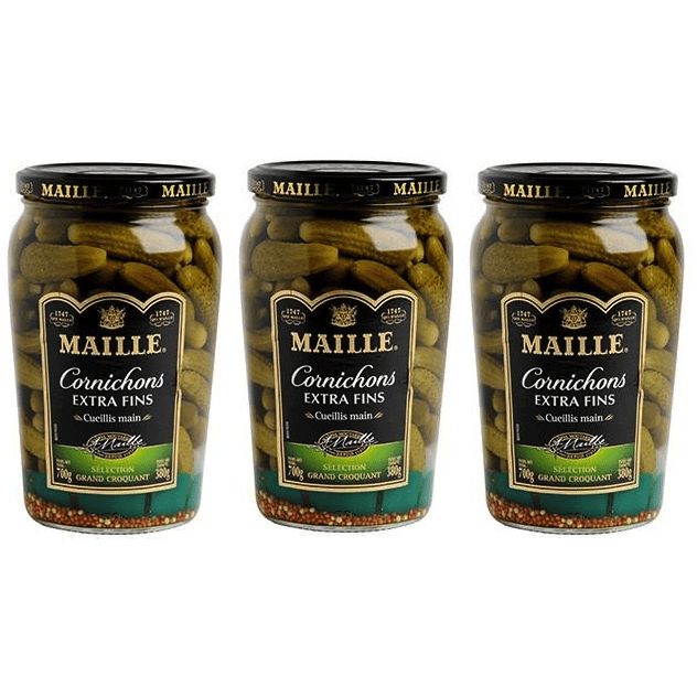 MAILLE Extra Thin & Cracking Pickles X 3