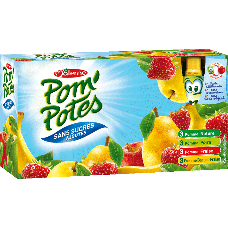 MATERNE Pom'Potes Multi Classic Pocket-No added sugar - TheLittleMart.com