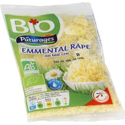 PÂTURAGES Organic Grated Emmental Cheese / FROZEN