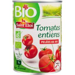 SAINT ELOI Tomates pelées enters Bio / Organic Whole Peeled Tomatoes - TheLittleMart.com