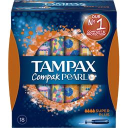 TAMPAX PEARL Tampons Super+  x 18 - TheLittleMart.com
