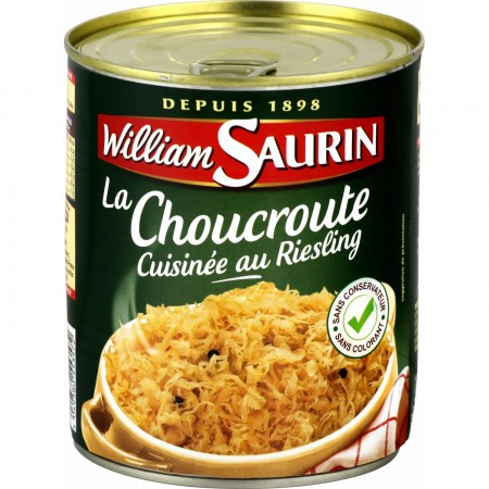 WILLIAM SAURIN - Choucroute/Sauerkraut with Riesling