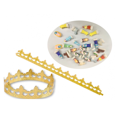 Kit Galette des rois -Couronne + Fève / Crown +feve(Pastry Broad Beans) - TheLittleMart.com