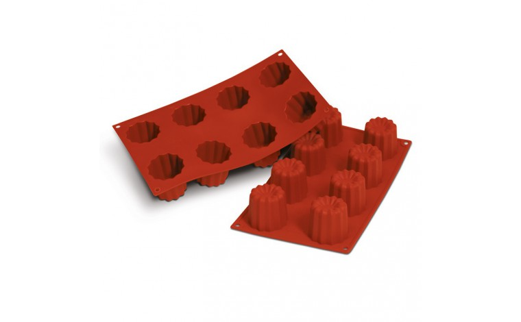 Moule Silicone 8 CANNELÉS BORDELAIS / Cannelés mould 8 pieces - TheLittleMart.com