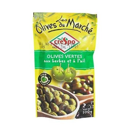 CRESPO - Green olives with herbs and garlic - TheLittleMart.com
