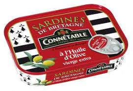 CONNETABLE Sardines de Bretagne à l'huile d'olive vierge extra / Sardines from Brittany fillets in extra virgin olive oil - TheLittleMart.com