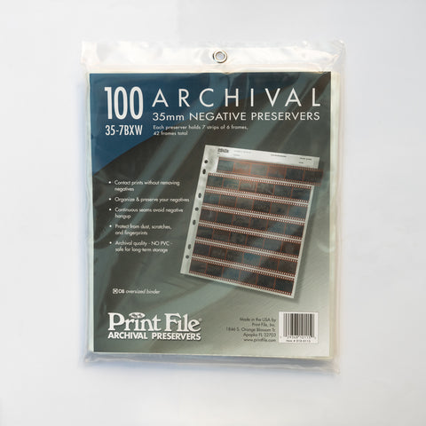 Print File Negative Sleeves 35mm - 100 Pack