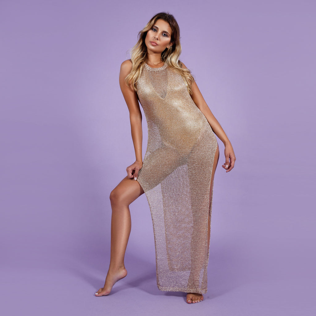 'Goldiva' Dress Gold