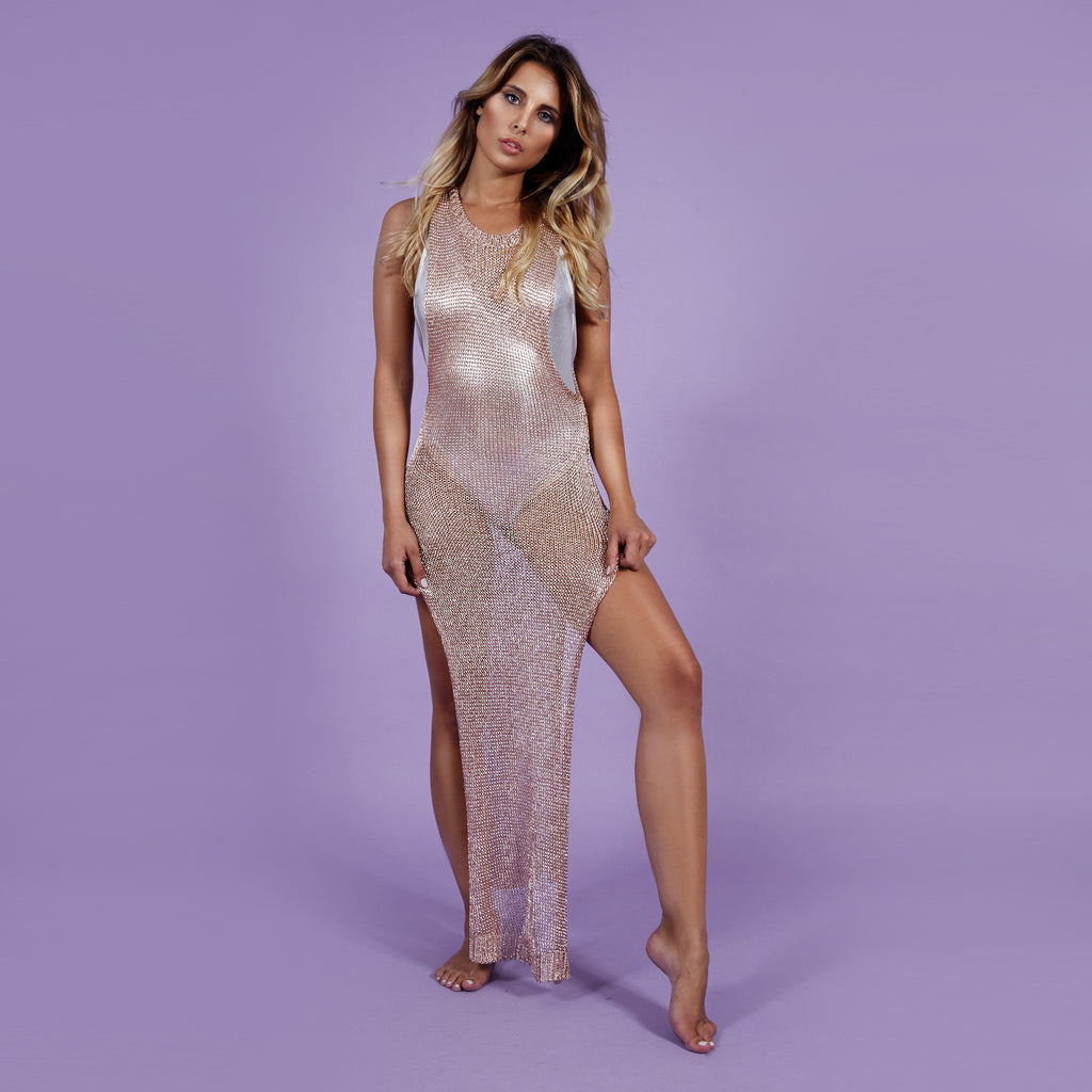 'Goldiva' Dress Rosegold