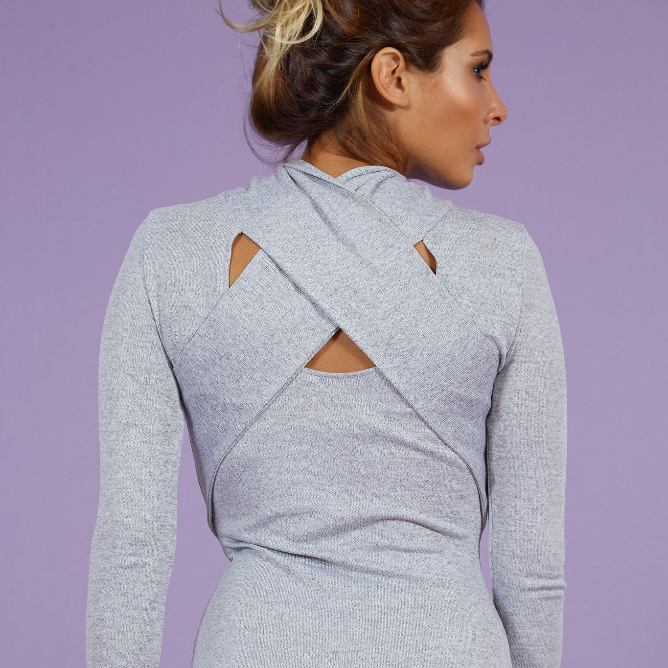 'Heather' Dress Cross Back Grey