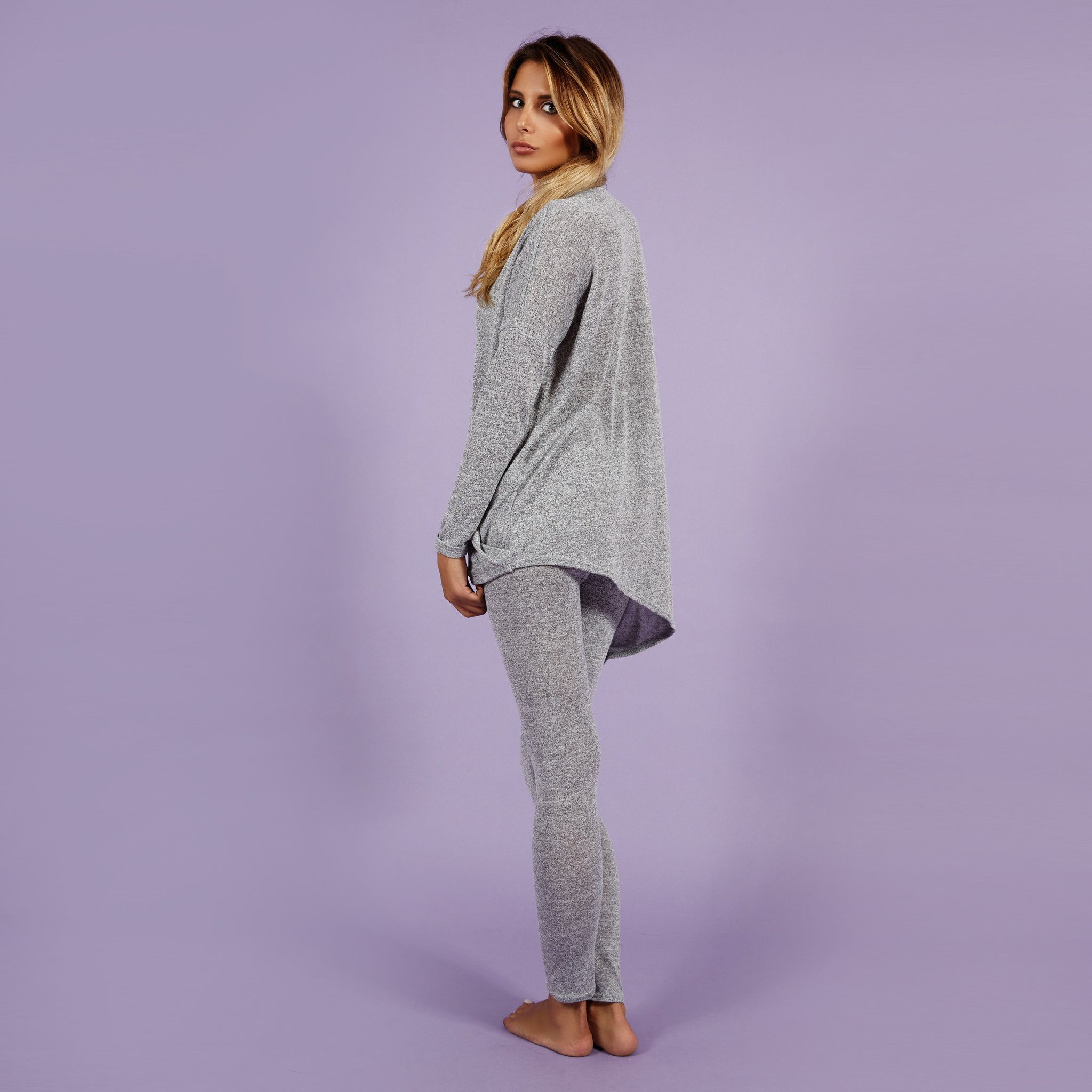 'Holly' Knitted Lounge Suit Grey