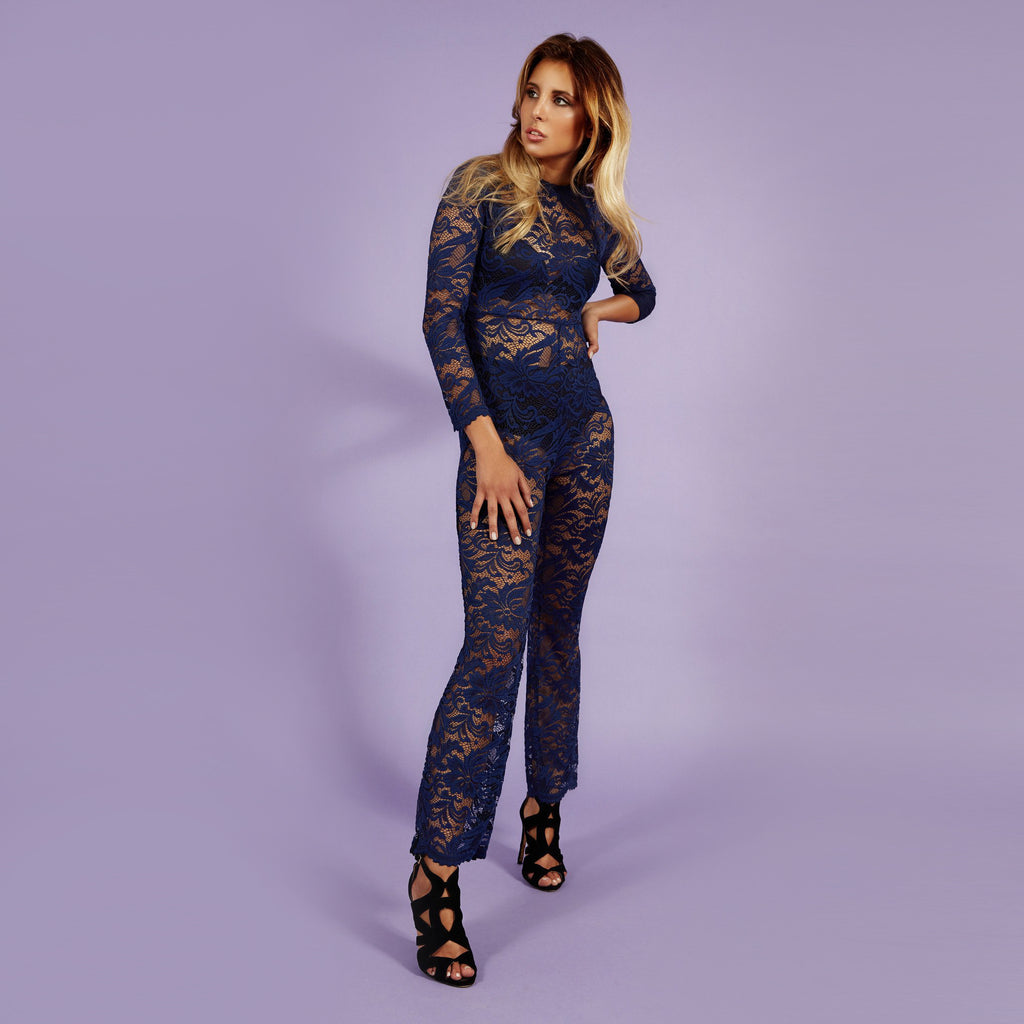 'Kylie' Jumpsuit Lace Nightblue