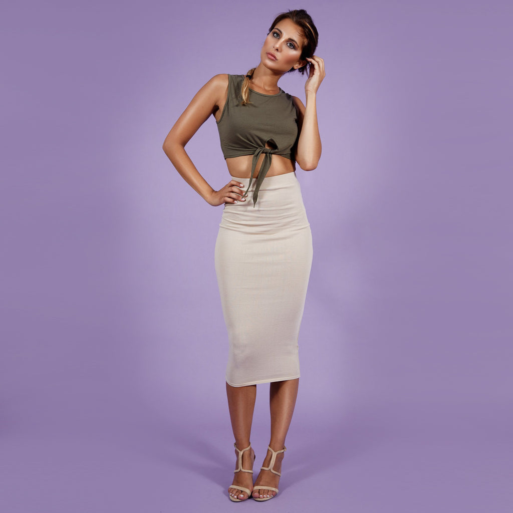 'Nicky' Crop Top Olive